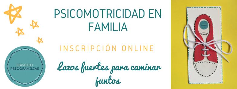 Inscripción online psicomotricidad en familia