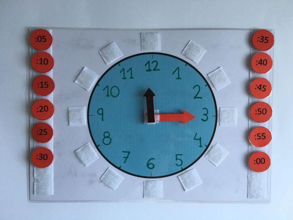 Aprendemos las horas con este reloj hecho en casa